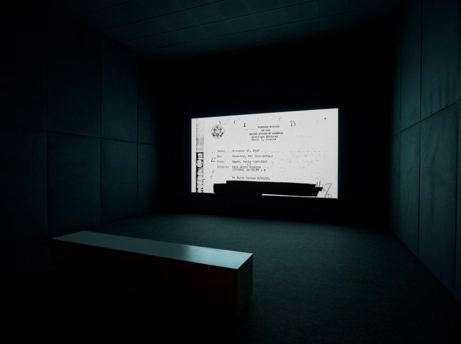 Steve McQueen (b. 1969), ​End Credits, 2012. Sequence of digitally scanned files, sound, continuous projection