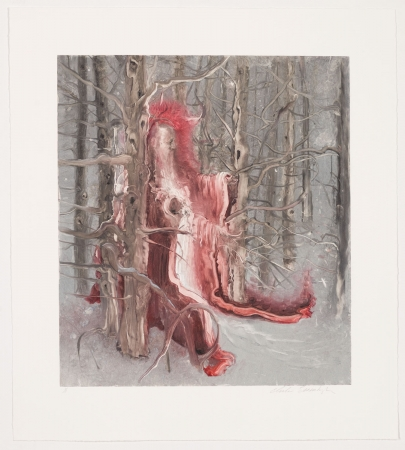 Inka Essenhigh. Saint in the Snow, 2011