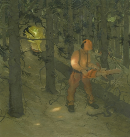 Inka Essenhigh. The Woodsman, 2012