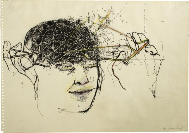 June Leaf (b. 1929), Head, 1975.