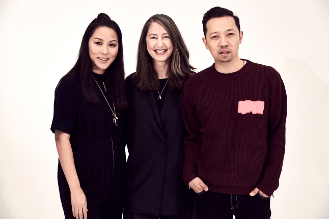 KENZO Creative Directors CarolLim (left) and  Humberto Leon (right) with Ann-Sofie Johansson, Creative Advisor at H&M (center)