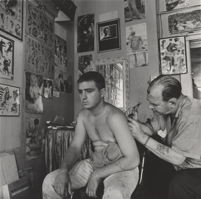 Danny Lyon (b. 1942), Bill Sanders, Tattoo Artist, Houston, Texas, 1968.