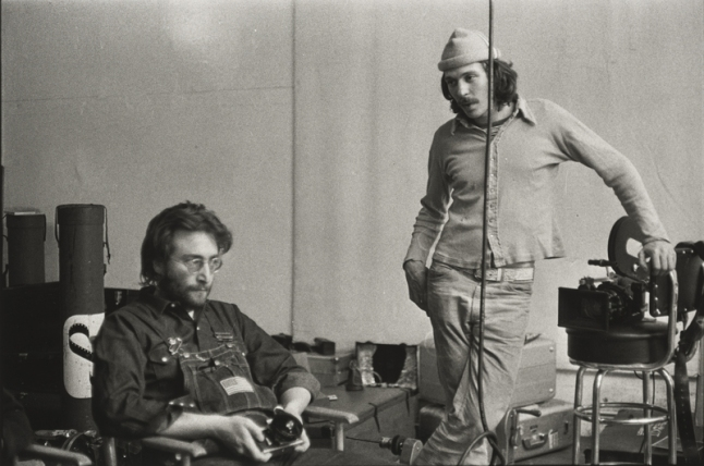 Danny Lyon (b. 1942), John Lennon and Danny Seymour, The Bowery, New York, 1969.