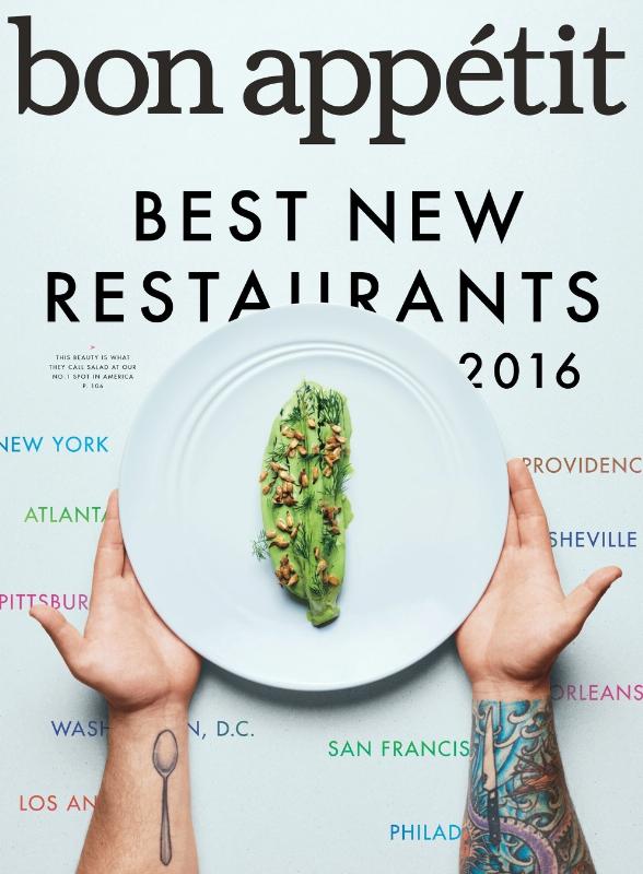 Bon Appetit September 2016 Cover