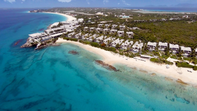 Aerial View of the new  Four Seasons Resort and Residences Anguilla