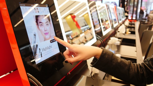 Learn a new look at The Beauty Workshop Table's iPad Station