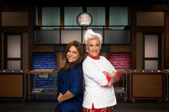 Mentors Rachael Ray and Anne Burrell of Food Network's Worst Cooks in America - Celebrity Edition