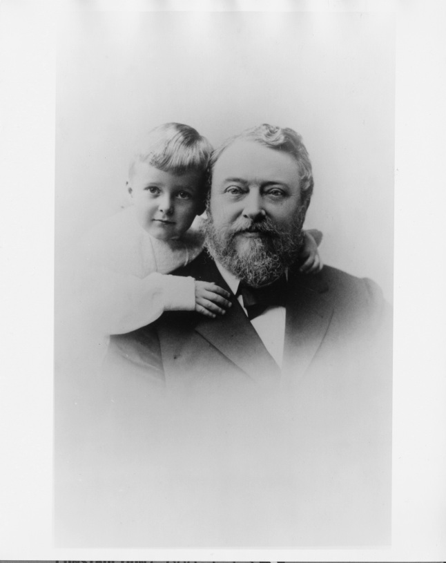 Samuel M. Nickerson pictured with his grandson, ca. 1900. Photo courtesy of Roland C. Nickerson.