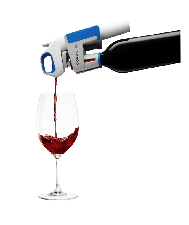 The Coravin Model One Wine System lets you pour wine effortlessly without removing the cork