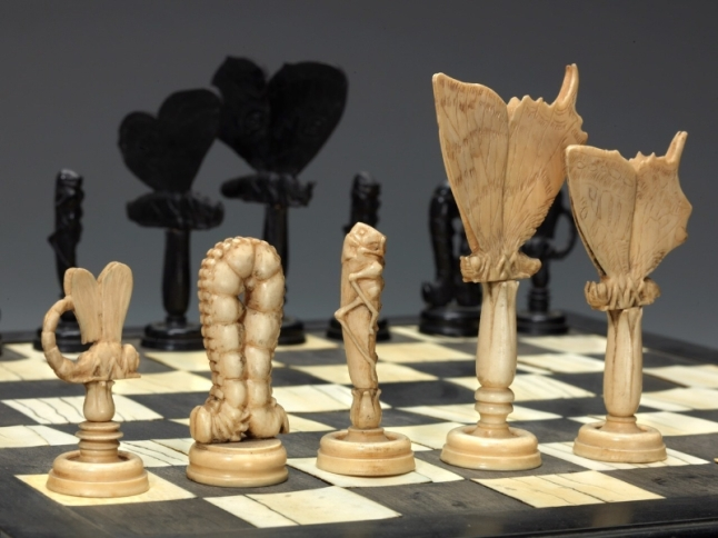 World Chess Hall of Fame Insects Chess Set and Board