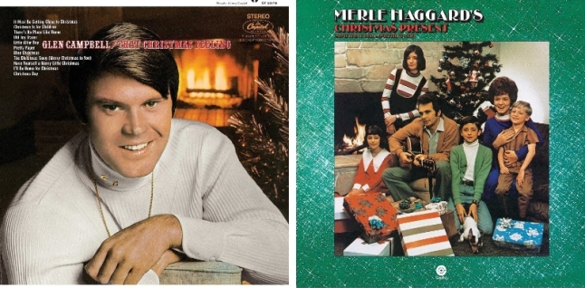 Glen Merle Christmas LP Covers