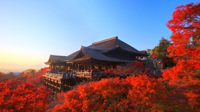 Kiyomizu-dera stage in autumn