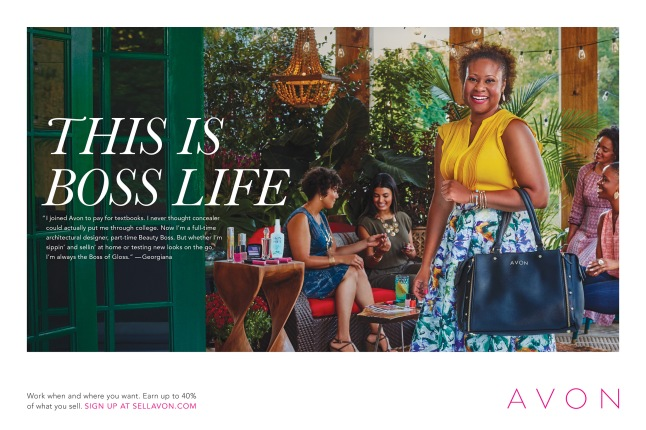 this-is-boss-life-print-advertising-featuring-avon-representative-georgiana