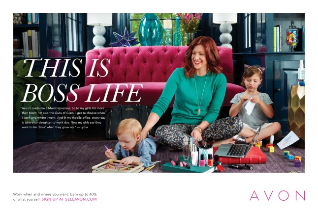 this-is-boss-life-print-advertising-featuring-avon-representative-lydia