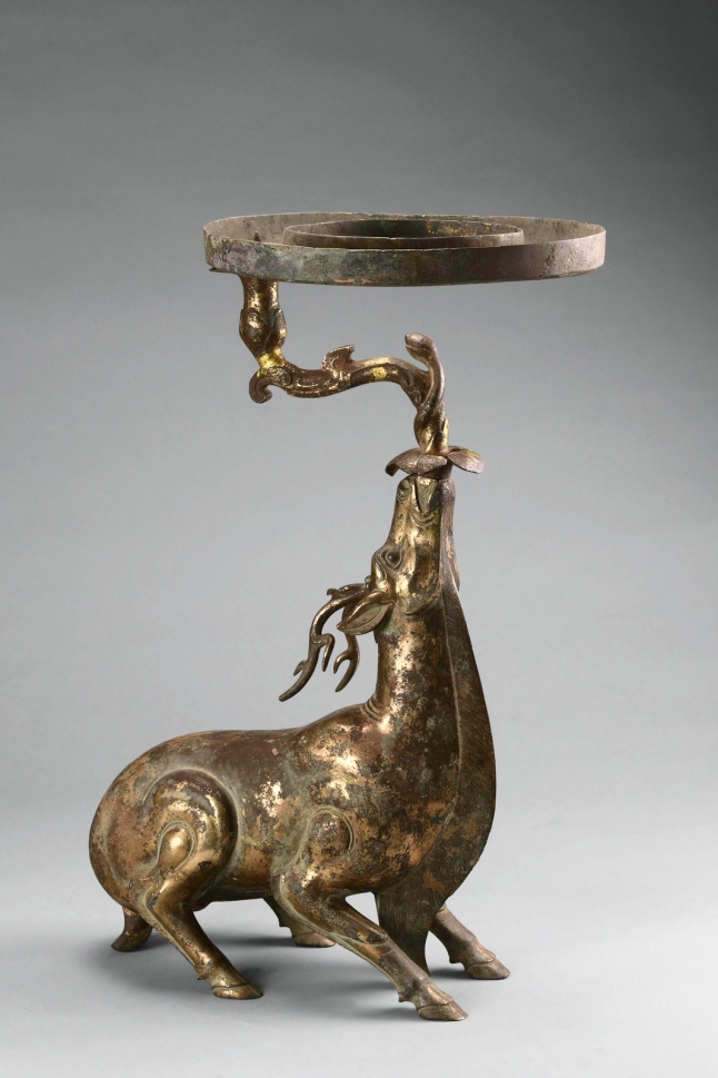 AAM Tomb Treasures Lamp in the shape of a deer EX2017.1.42