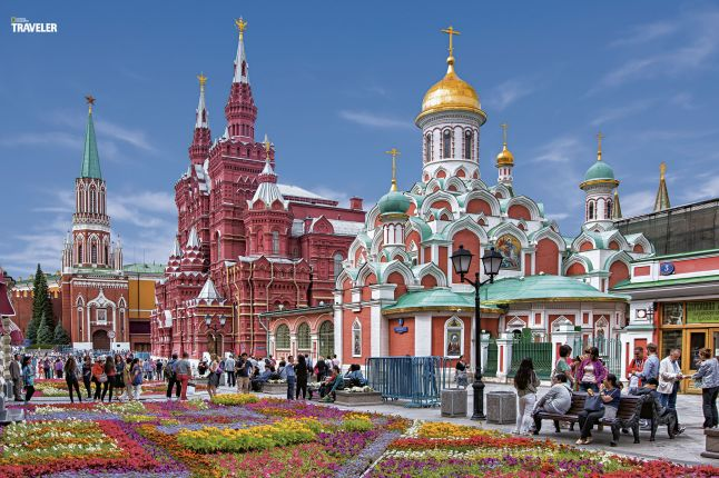 The State History Museum and the Kazan Cathedal in the Red Square