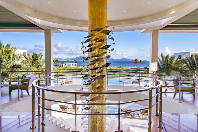 The Lobby Staircase at The reef by CuisinArt, Anguilla
