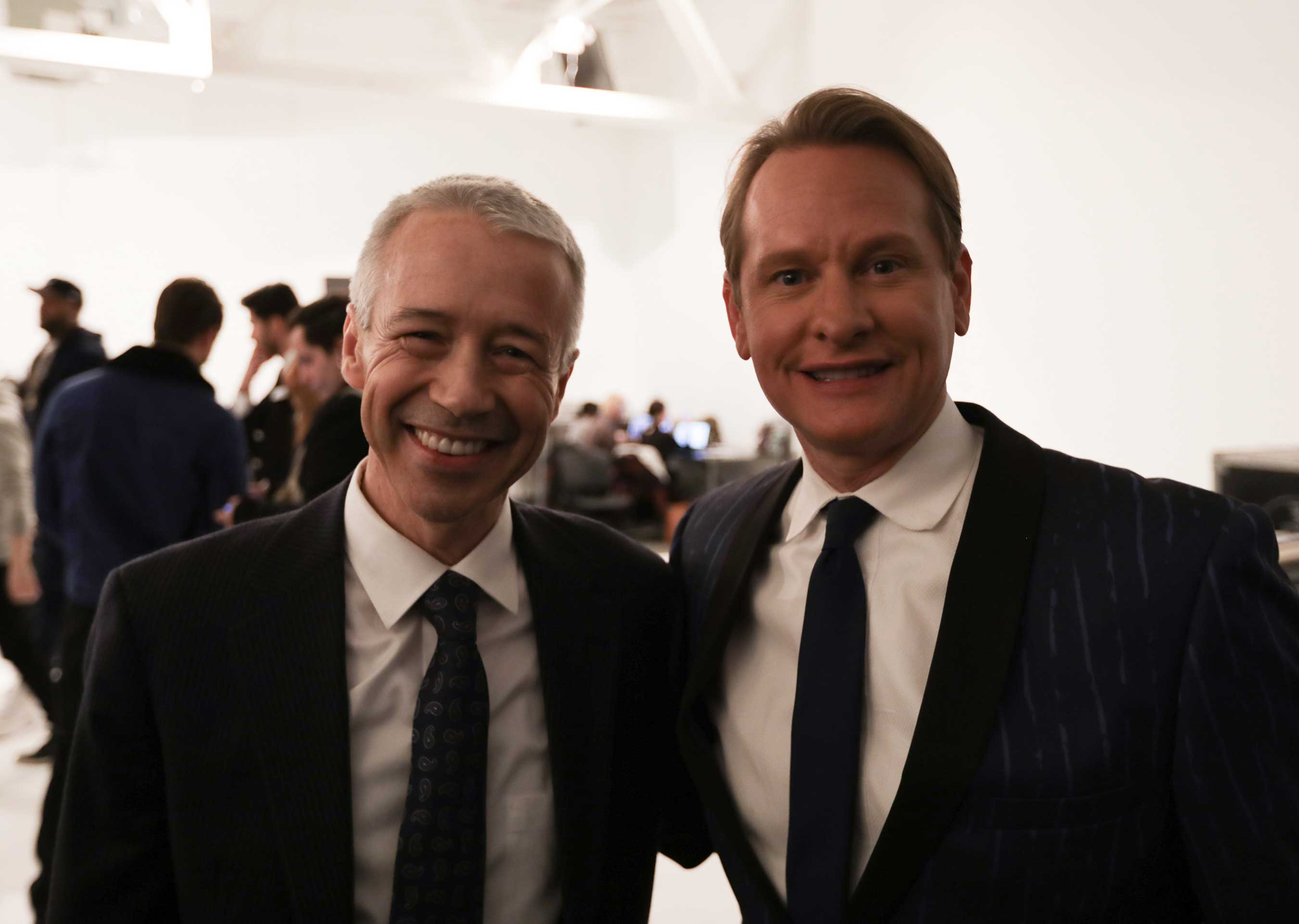 joaquin-duato-worldwide-chairman-pharmaceuticals-johnson-johnson-and-carson-kressley-at-the-blue-jacket-fashion-show-benefiting-the-prostate-cancer-foundation