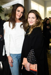 Katie Holmes and Drew Barrymore at Club Monaco's Spring 2017 Fashion Show