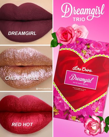 the-dreamgirl-lip-trio-includes-the-dreamgirl-velvetine-juicy-cranberry-the-red-hot-metallic-velvetine-metallic-cherry-red-and-the-cheap-thrill-diamond-crusher-sunset-rose-shift-sparkling-lip-top