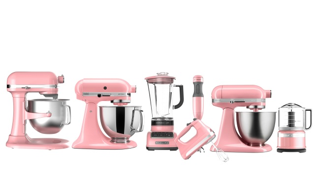 KitchenAid's New Countertop Appliance Suites in Guava Glaze