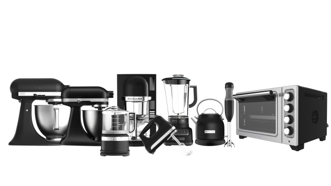 KitchenAid's New Countertop Appliance Suites in Matte Black