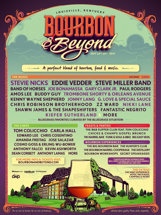 Bourbon and Beyond Festival Official Line Up Infographic