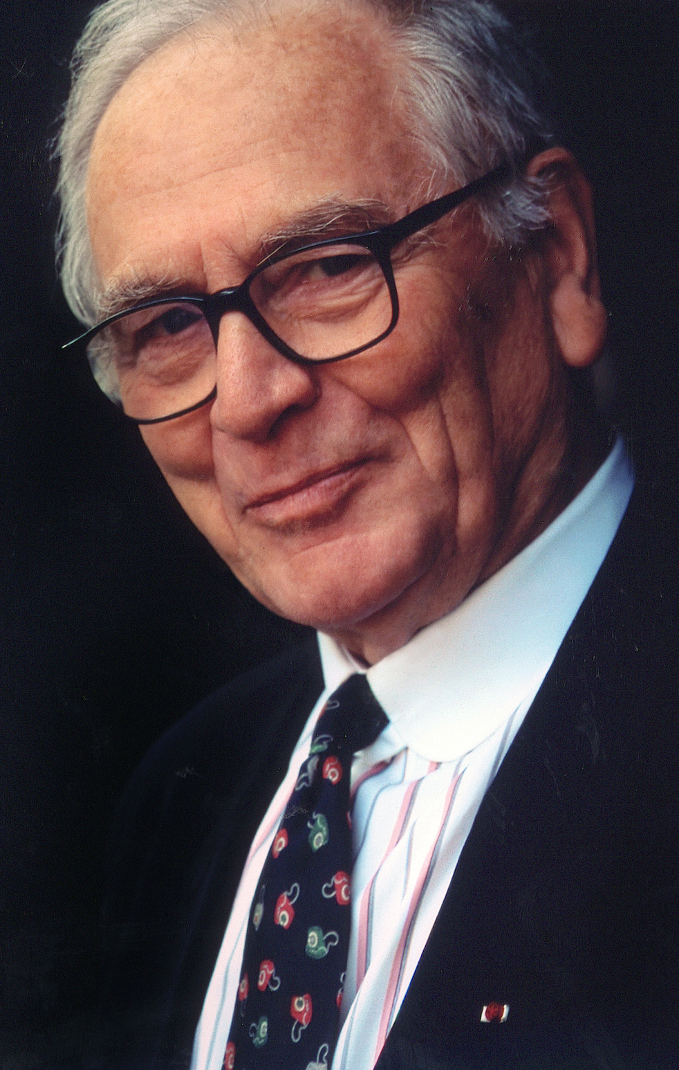 """Pierre Cardin, 1983, the year he is made Knight of the Legion of Honour and and is decorated as """"Chevalier des Arts and des Lettres"""" (courtesy Archives Pierre Cardin)"""