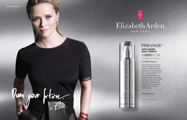 Reese Witherspoon in Elizabeth Arden's new advertising campaign.