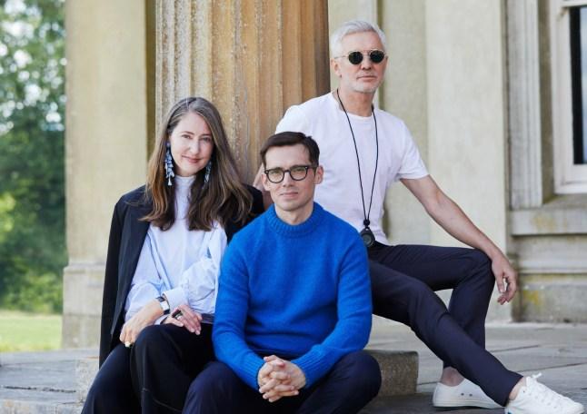 ERDEMxHM-Ann-Sofie Johansson Erdem Moralioglu and Filmaker Baz Luhrmann