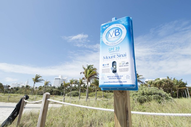 Miami Beach Visitor- Suncare Dispenser