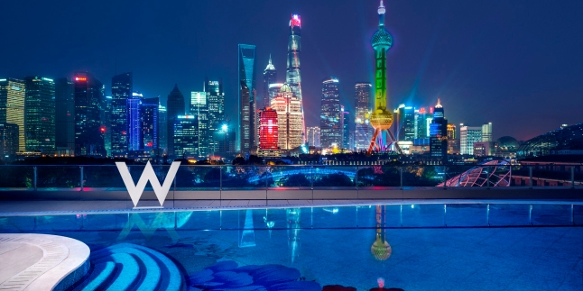 The WET Deck at W Shanghai – The Bund.