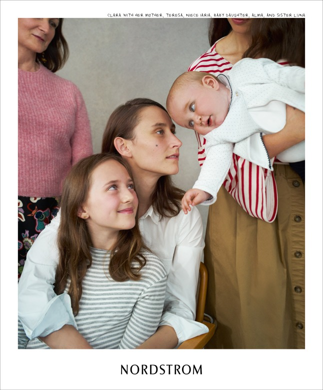 Nordstrom Fall Campaign - Clara Cullen with her mother, daughter, sister + niece