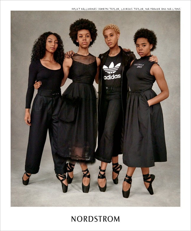 Nordstrom Fall Campaign - The Hiplets - Camryn Taylor, Lourdes Taylor, Nia Parker, Nia Lyons