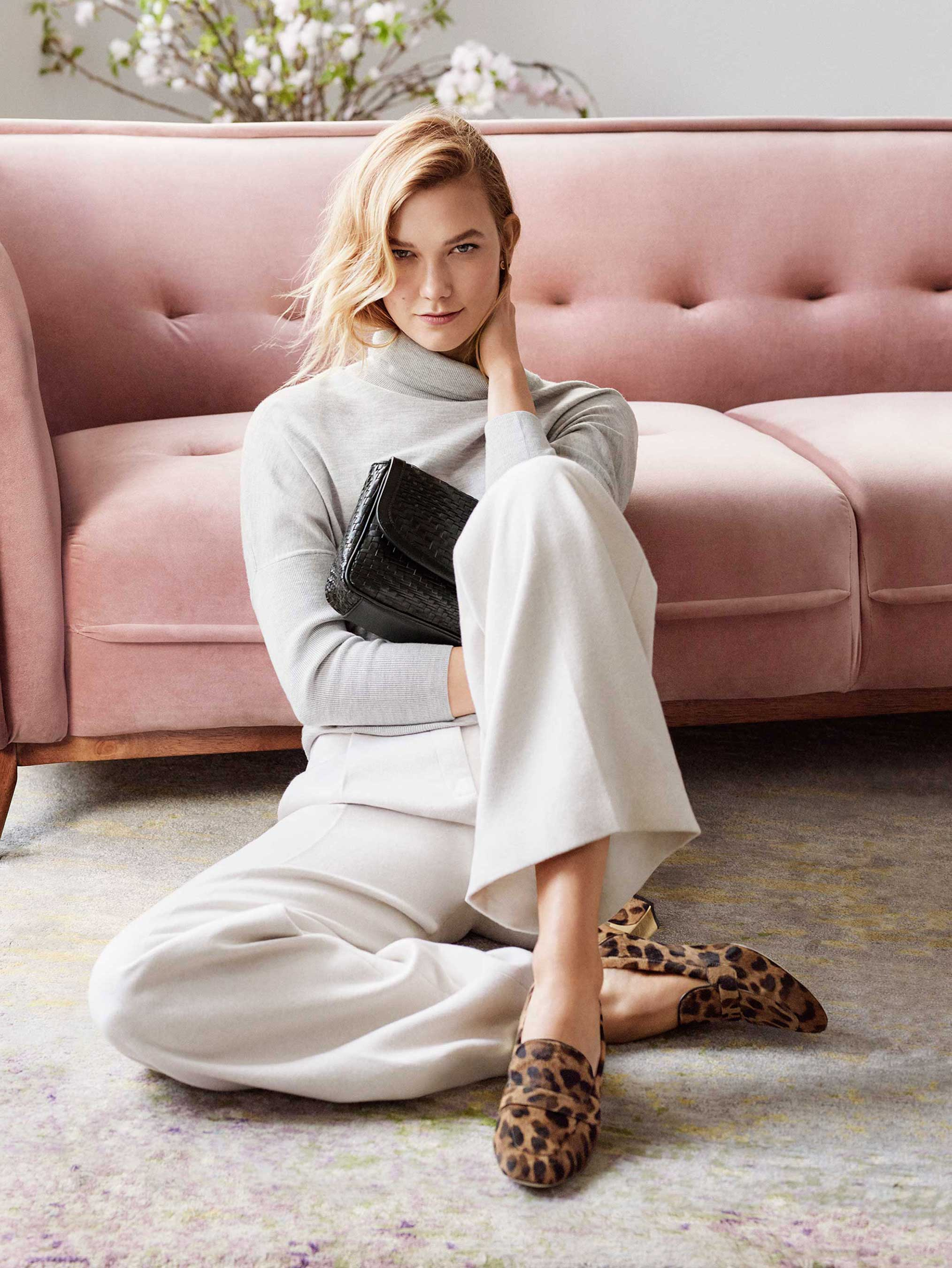 Cole Haan – Fall 2017 Extraordinary Women, Extraordinary Stories Campaign –  Karlie Kloss – Collection Loafer in Ocelot and Genevieve Clutch in Black