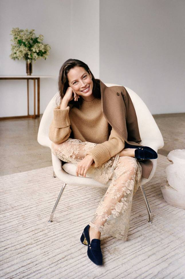 Cole Haan - Fall 2017 Extraordinary Women, Extraordinary Stories Campaign - Christy Turlington Burns - Collection Loafer in Marine B