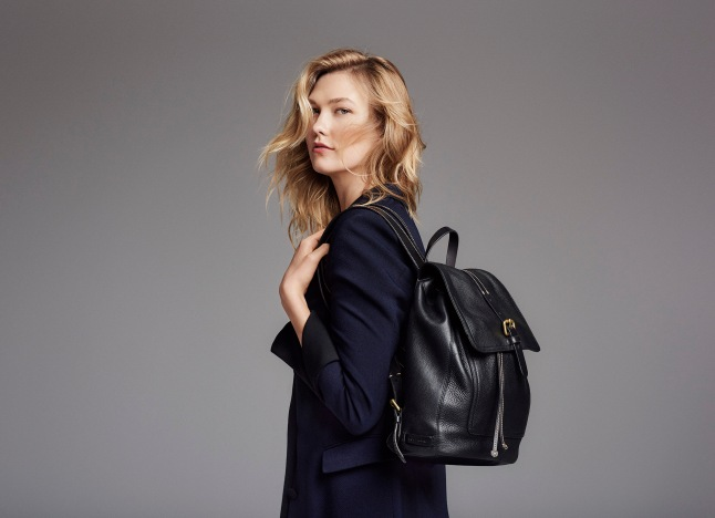 Cole Haan_Fall Extraordinary Women, Extraordinary Stories 2017 Campaign_Karlie Kloss_Loralie Backpack in Black