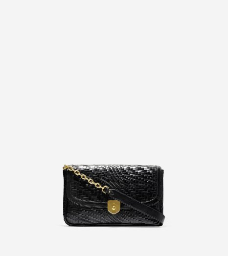Cole Haan_Genevieve Weave Clutch_Black