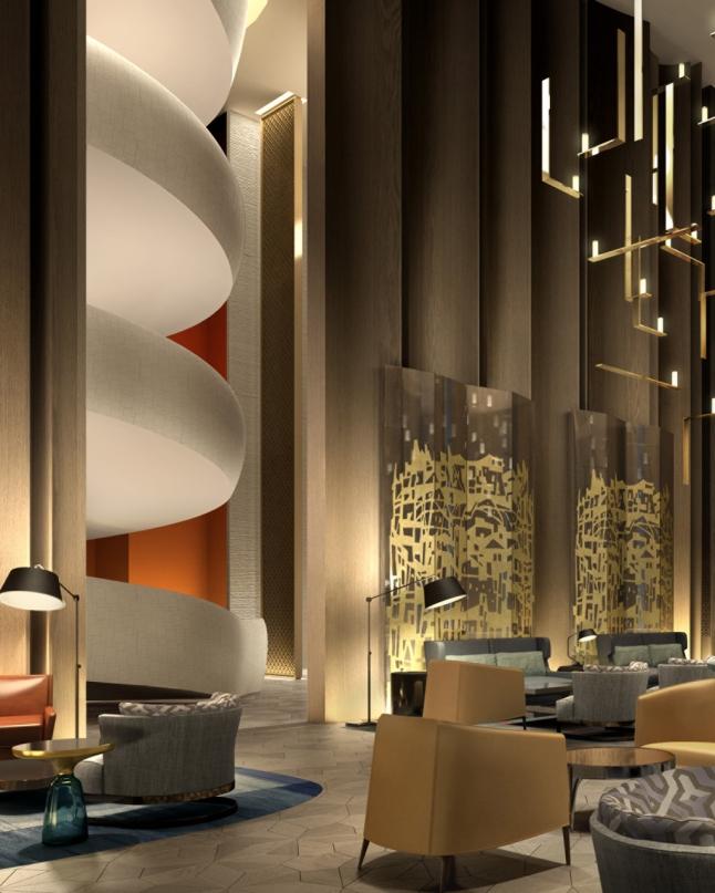 Four Seasons Hotel Kuwait At Burj Alshaya - Grand Stairways in Lobby
