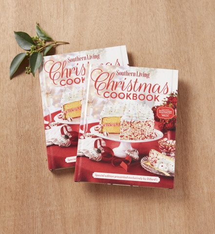 The Southern Living Christmas Cookbook benefits Ronald McDonald House Charities and is available exclusively at Dillard's
