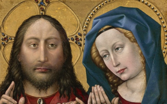 Christ and the Virgin, c. 1430 1435. Robert Campin, also called the Master of Flémalle, Netherlandish