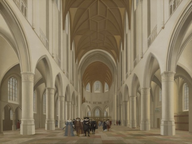 Interior of Saint Bavo, Haarlem, 1631. Pieter Jansz. Saenredam, Dutch