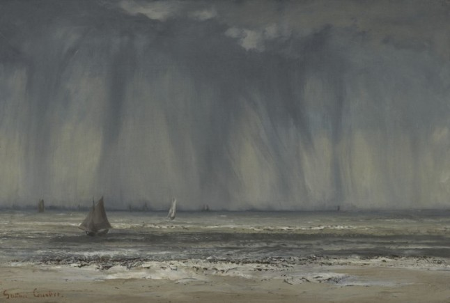 Marine, 1866. Gustave Courbet, French, 1819 1877. Oil on canvas on gypsum board. Philadelphia Museum of Art, John G. Johnson Collection, 1917.