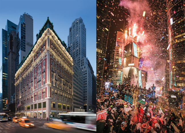 NEW YEAR'S EVE AT THE KNICKERBOCKER HOTEL IN TIMES SQUARE