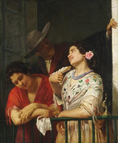 On the Balcony, 1873. Mary Stevenson Cassatt, American, 1844 1926