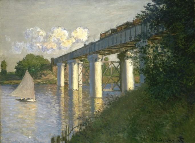 Railroad Bridge, Argenteuil, 1874. Claude Monet, French, 1840 1926.