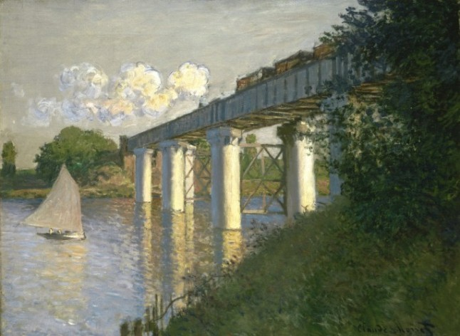 Railroad Bridge, Argenteuil, 1874. Claude Monet, French, 1840 1926.