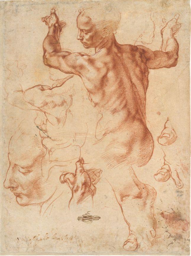 6. Michelangelo_Studies for the Libyan Sibyl_MMA