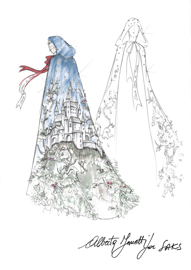 Saks Fifth Avenue Alberta-Ferretti Snow White Sketch