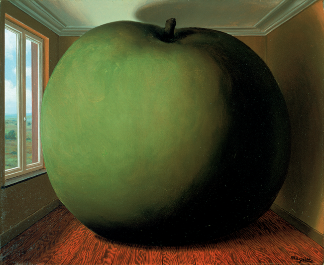 René Magritte, La chambre d_écoute (The Listening Room), 1952